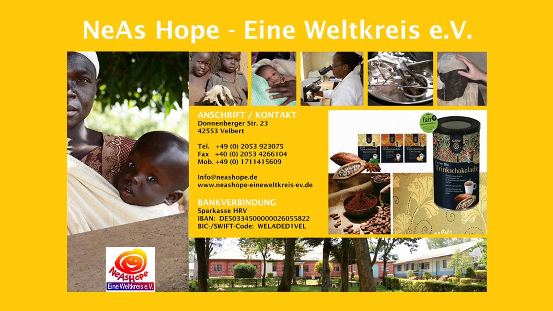 Read more about the article NeAs Hope – Eine Weltkreis e.V. | jeden 2. Montag im Monat, 19:00 Uhr